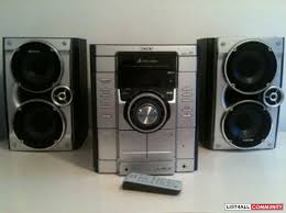 sony stereo. sony stereo sytem 2 decent size speakers ( loud system ) d