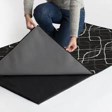 latex backed rugs. Amara Washable Black/White Indoor/Outdoor Area Rug Latex Backed Rugs