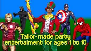 childs clown birthday entertainer mascot face painter childrens magician hire superhero avengers in edmonton london gumtree