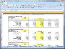 Break Even Point Excel Download Pricing And Breakeven Analysis Excel 4 0
