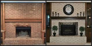 painted brick fireplace before after paint the brick