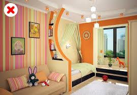 uso incorrecto del color para separar una habitación en zonas