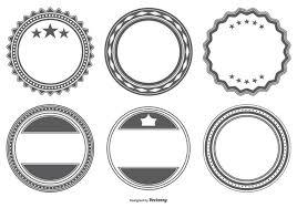 空のバッジ図形素材 イラスト図素材ダウンロード高品質で使いやすい