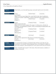Types Of Resume Formats Resume Template Easy Http Www