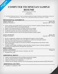 Computer Repair Resume Sample Professional Resume Templates