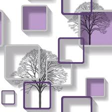 Modern Purple Patterned 3d Wallpaper 3d Mint Green Free Wallpaper
