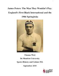 PDF) James Peters: The man they wouldn't play   Tom Weir - Academia.edu