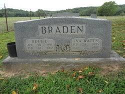 Iva Watts Braden (1895-1982) - Find A Grave Memorial