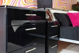 High Gloss Black Bedroom Furniture Kensington Bedroom Lifestyle Furniture