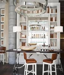 Fresh Idea To Design Your White Kitchen With Glass Cabinets - Home liquor bar designs