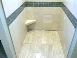 shower shaving pedestal marble with linear drain and foot rest for the las tile chrome brass shower shaving