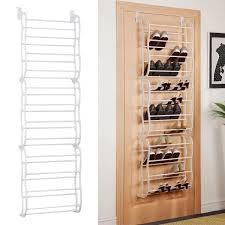 attractive hanging shoe organizer costway white 36pair over the door shoe rack wall hanging