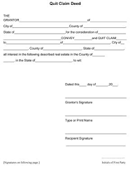 Quick Deed Form