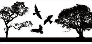 人物木鳥魚などのシルエットのベクター素材 コリス