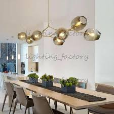 chandeliers lighting modern lamp novelty pendant natural tree branch suspension clear and gray glass for choice