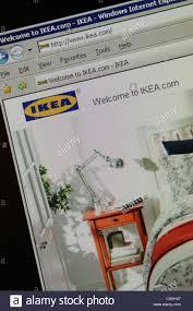 Stock Photo - ikea furniture retailer worldwide website