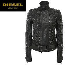 sel black gold sel black gold lady s ox leather genuine leather studs tack stand collar leather jacket leatherette jacket l o 78 513