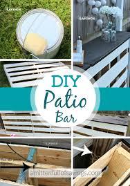 diy patio bar. DIY Patio Bar Made Out Of Wood Pallets Diy T