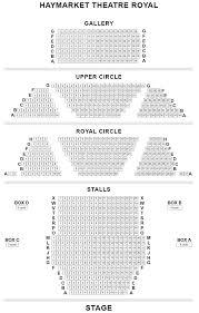 Theatre Royal Haymarket Seating Plan Chart London Uk