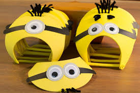 Mask Decorating Ideas Creative Idea Lovely Yellow Minion Themed Party Mask Ideas 56