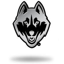 uconn huskies chrome auto emblem black steel tropical