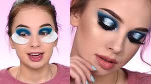 recreating the look dramatic blue smokey eye makeup tutorial