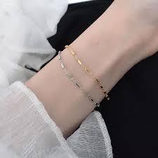 <b>Silvology 925 Sterling Silver</b> Cylinder Slim Bracelets Minimalist ...