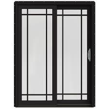 wood sliding patio doors. JELD-WEN 59.25-in X 79.5-in Simulated Divided Light Right-Hand Wood Sliding Patio Doors A