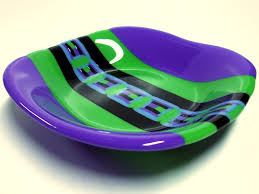 fused glass bowl with pattern bar by good grief glass