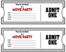 70 Best Party Tickets Images Movie Tickets Party Tickets Printables