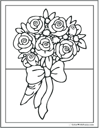 Flowers To Color And Print Houseofhelpccorg