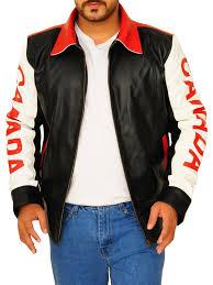 trending flag jacket canada leather jacket