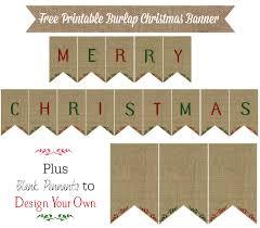 Christmas Printable Banner Merry Christmas And Happy New