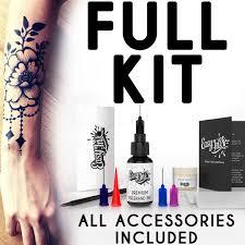 Easyink Freehand Temporary Tattoo Ink Full Kitsuper Dark Ink Fruit Based Semi Permanent Tattoo Ink Natural Waterproof No Chemicals