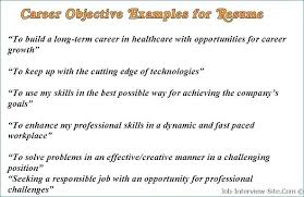 Sample Resume Objectives For A Supervisory Position Career Change