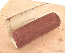 sandpaper definition. most mouse sanders accept assorted grits of sandpaper, from coarse to very fine. sandpaper definition a