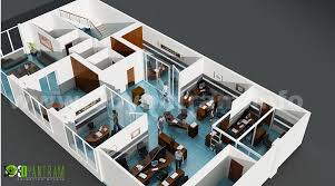 office floor layout. 3D Office Floor Plan Design Layout