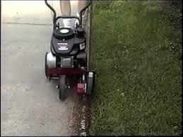 gas edger. using a gas edger walk behind - yard machine