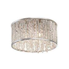 ceiling mount chandelier tranquil crystal bubble and chrome flush
