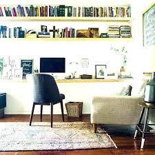 home office wall. Office Wall Shelf Floating Shelves Home Shelving A Cozy Modern