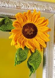 Crochet Sunflower Pattern Fascinating Sunflowers To Knit And Crochet Free Patterns Grandmother's
