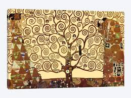 the tree of life by gustav klimt 1 piece canvas artwork  on canvas wall art tree of life with the tree of life canvas wall art by gustav klimt icanvas