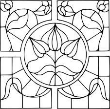 Glas In Lood Raam Kleurplaat Gratis Kleurplaten Printen