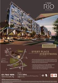apartment brochure design. Oasis Rio Residences Apartment By Sime Darby Flyer Brochure Design