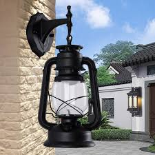 e27 rustic lantern lamp retro industry vintage wall sconce light fixture outdoor