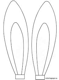 Small Picture Easter rabbit ears template Coloring Page