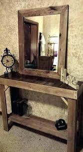 rustic entryway table way diy kitchen