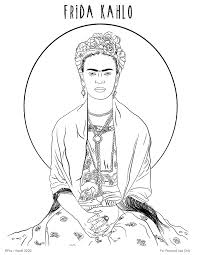 Color the video characters by kids learning tube! Free Frida Kahlo Printable Coloring Page Fox Hazel