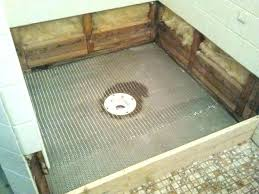 how to install a shower pan on a concrete floor installing a shower base on concrete