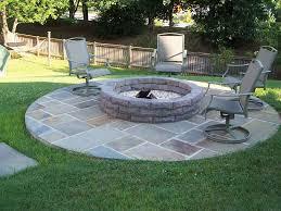 stone patio fire pit ideas